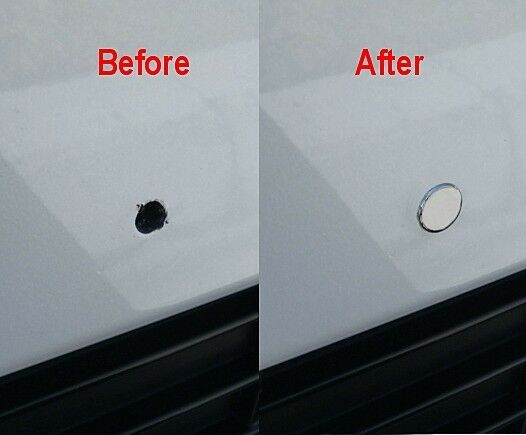 Low Profile Chrome Bumper Plugs For 5mm Front License