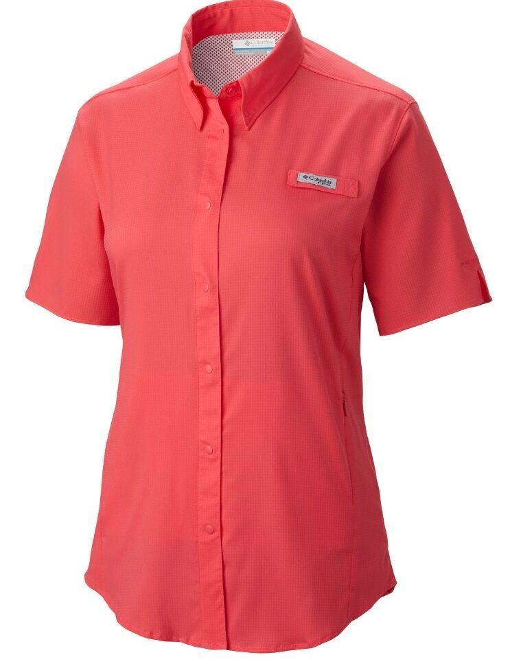 New womens columbia pfg tamiami ii omni shade wick for Columbia shirts womens pfg