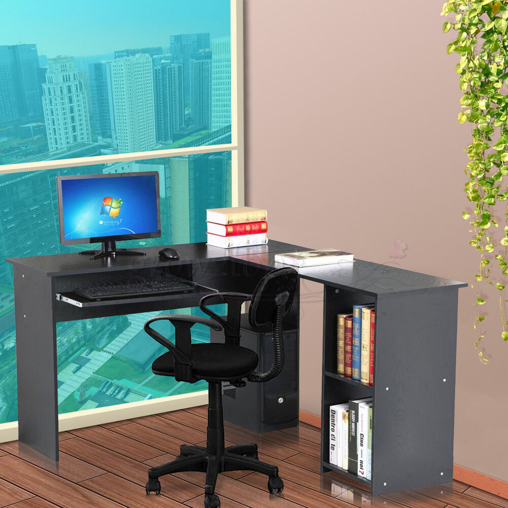 Large Corner Computer Desk Home Office Furniture Study