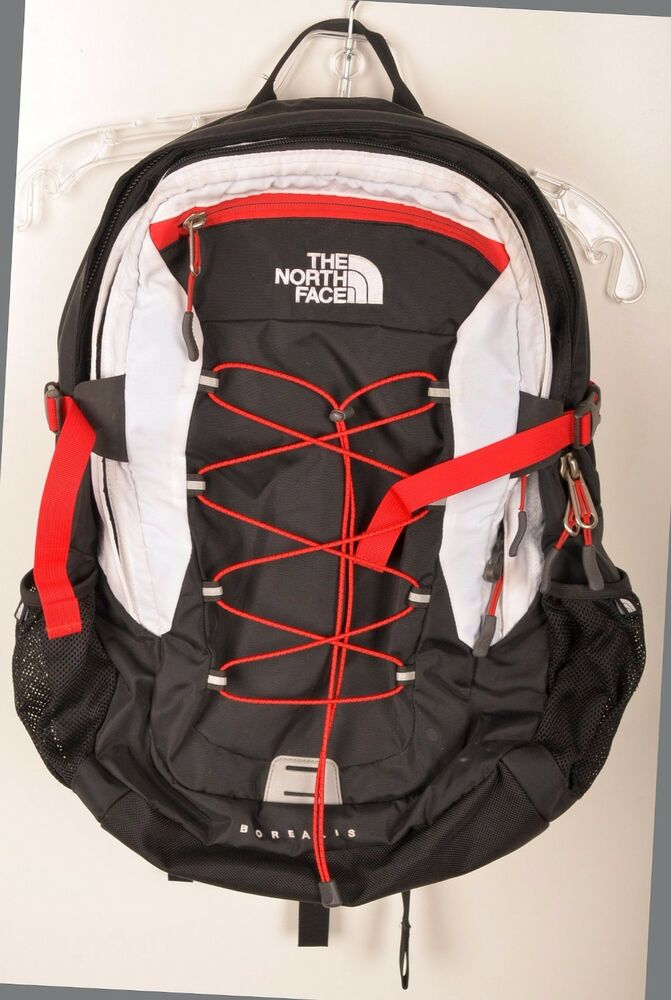 The North Face Borealis Black Red White Backpack Travel