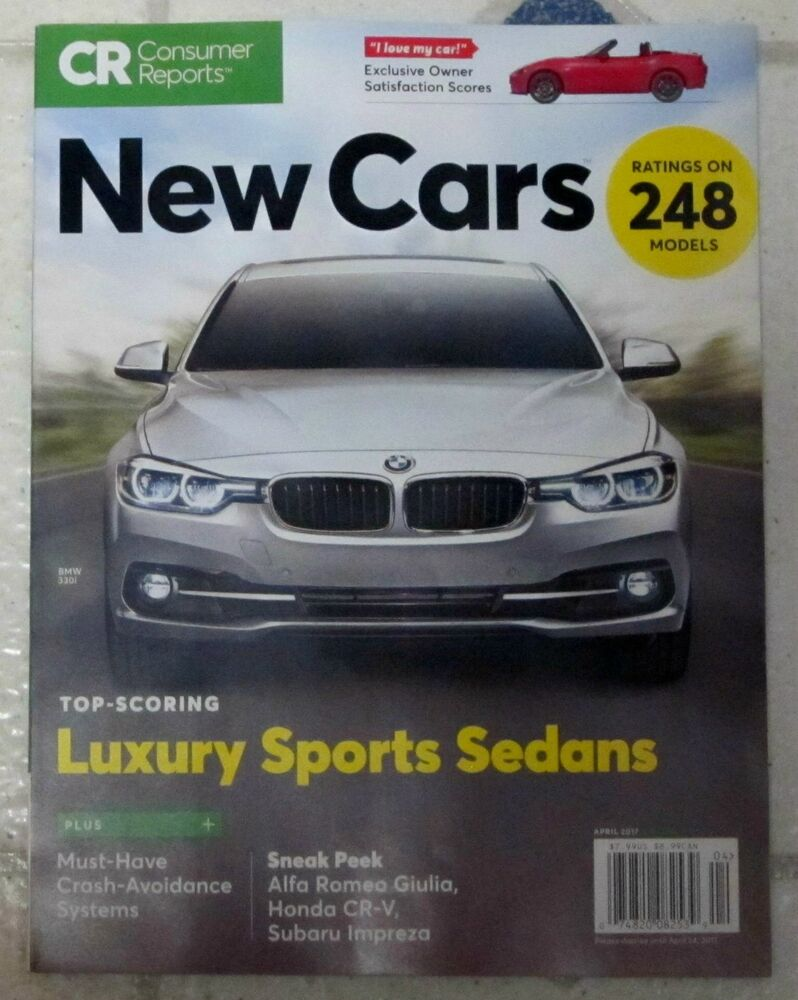 new cars buying guide consumer reports april 2017 luxury sports sedans 248 model ebay. Black Bedroom Furniture Sets. Home Design Ideas