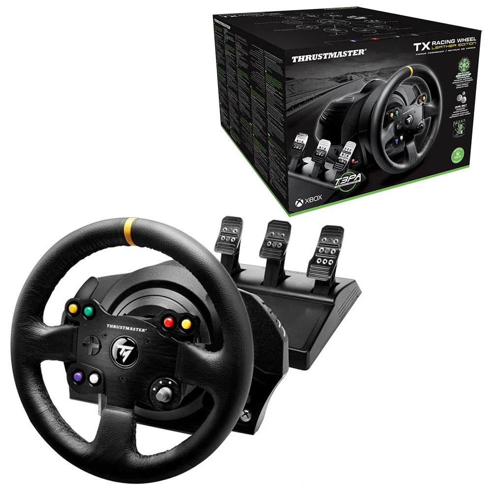 thrustmaster tx racing wheel leather edition with t3pa. Black Bedroom Furniture Sets. Home Design Ideas