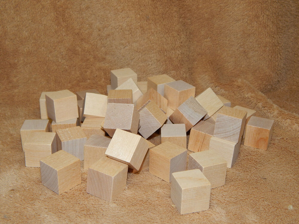 Unfinished hard wood wooden 1 x 1 memory cubes craft for Wooden blocks craft supplies