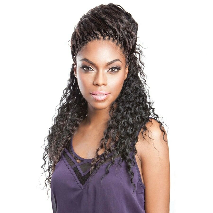 braids with human hair styles wave human hair blended bulk micro braiding 20 22 6004