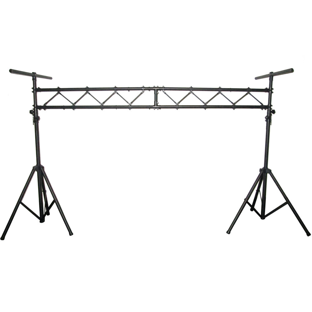 blastking aluminum mobile dj stage lighting truss stand system w 2 t bars bls01 ebay. Black Bedroom Furniture Sets. Home Design Ideas