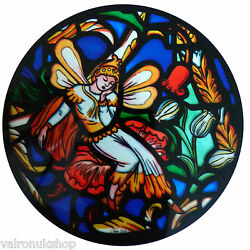 STAINED GLASS WINDOW ART - STATIC CLING  DECORATION - SOUTHWARK SHAKESPEAR WINDO