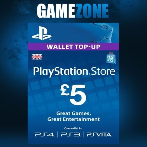 playstation network 5 gbp 5 pounds psn store card key ps4 ps3 psp uk ebay. Black Bedroom Furniture Sets. Home Design Ideas