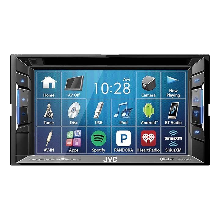 jvc kwv130bt double din bt in dash dvd cd am fm car stereo. Black Bedroom Furniture Sets. Home Design Ideas
