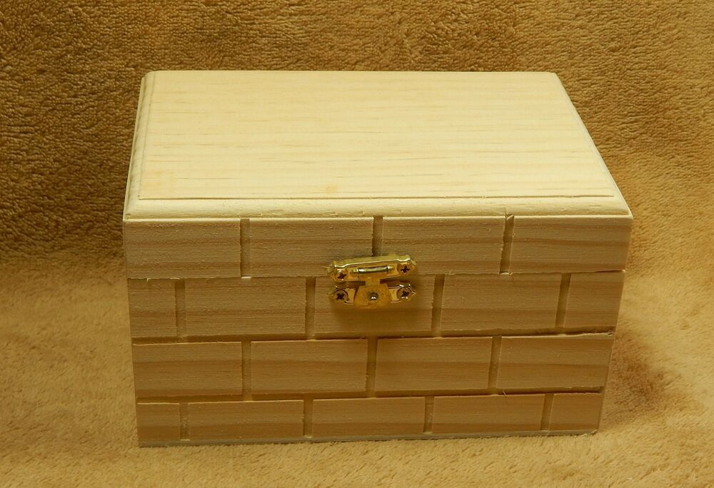unfinished wood wooden hinged gift box index card  recipe