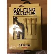 Guinness Collection Golf Gift Set 3 Wood TeeS Pitch Repairer With Key Ring A22