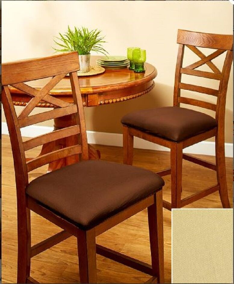 dining chair seat covers set of 2 also fits bar stool seat cover set of 2 ebay. Black Bedroom Furniture Sets. Home Design Ideas