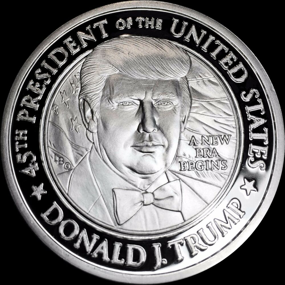 Wow Wow Wow Proof 999 Silver Trump Presidential