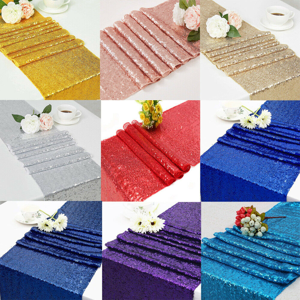 12 Quot X 72 Quot Choose Color Sparkly Sequin Table Runners For
