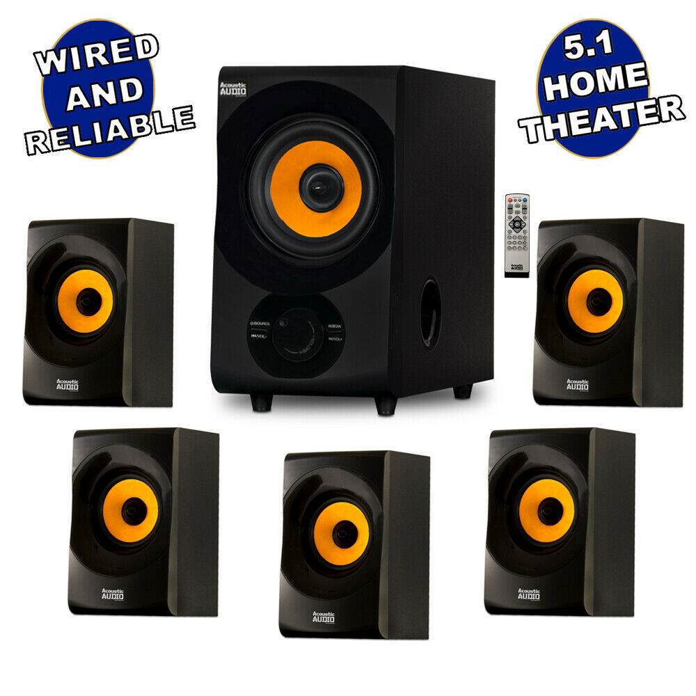 acoustic audio aa5170 home theater 5 1 bluetooth speaker. Black Bedroom Furniture Sets. Home Design Ideas