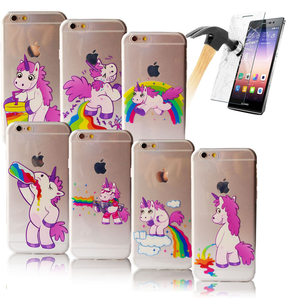 handyh lle tpu f r iphone mit motiv case schutz einhorn. Black Bedroom Furniture Sets. Home Design Ideas
