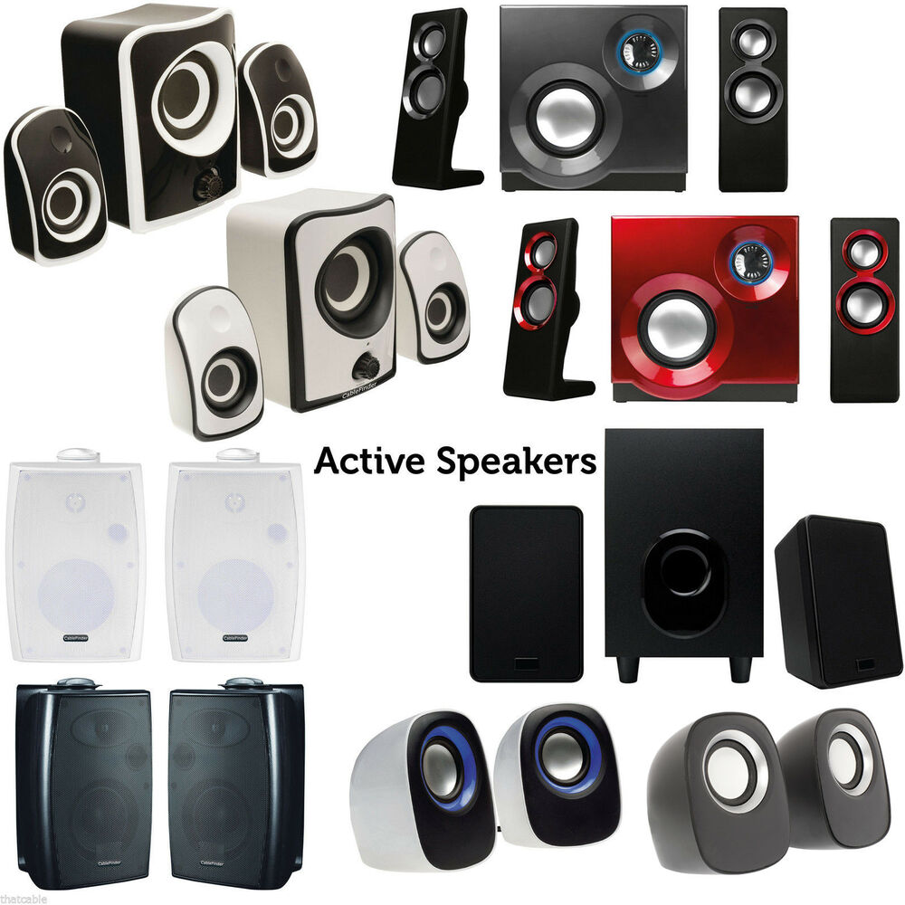 quality compact active surround sound speaker system tv. Black Bedroom Furniture Sets. Home Design Ideas