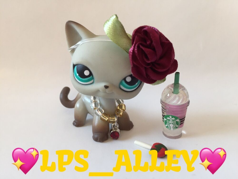 authentic lps littlest pet shop 391 gray around the world egyptian cat ebay. Black Bedroom Furniture Sets. Home Design Ideas