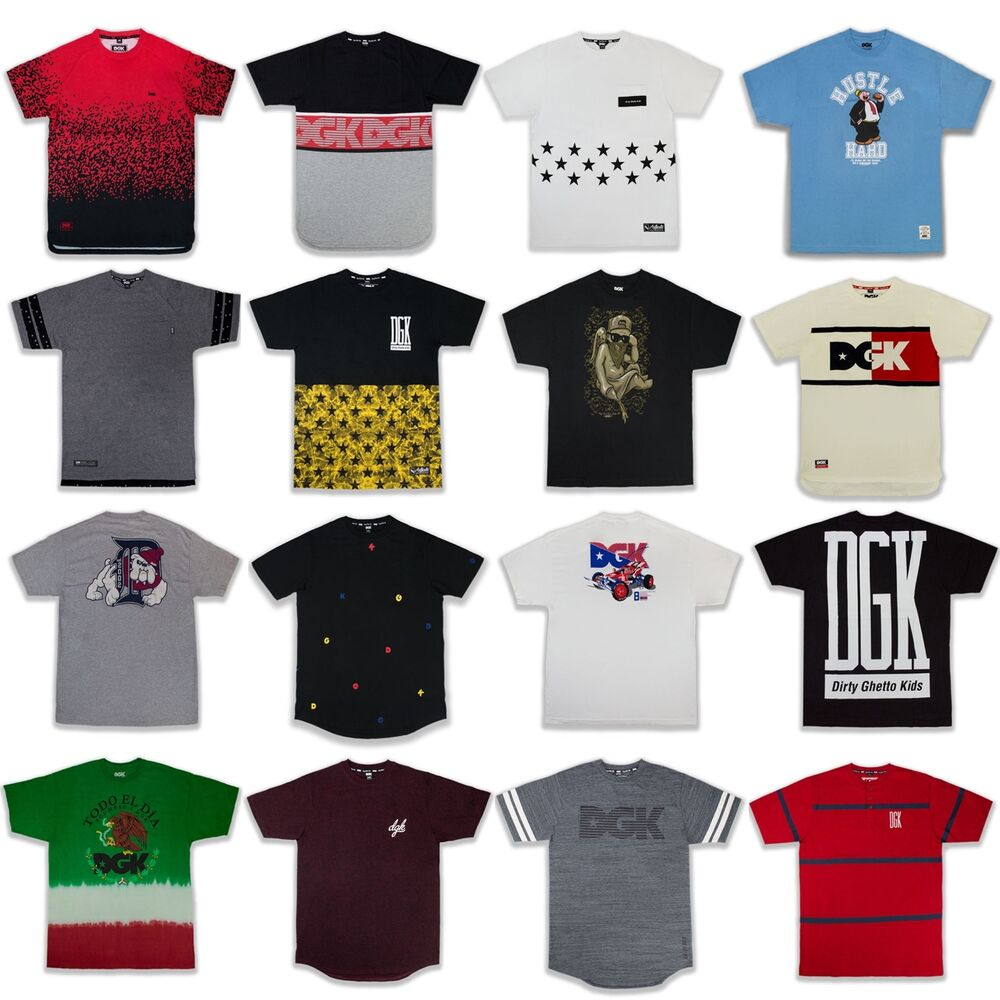 79bb0ffbed317d Details about NEW Men DGK 34 Different Shirts All Sizes Big   Tall Dirty  Ghetto Kids