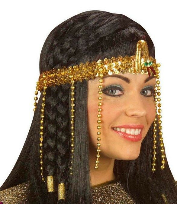 Women Egyptian Beaded Headdress Cleopatra Fancy Dress ...