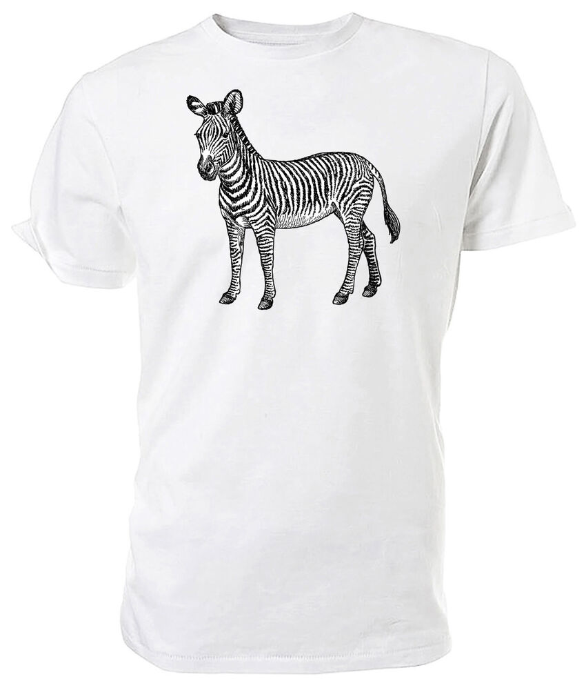 Line Drawing T Shirt : Zebra t shirt choice of size colours black and white