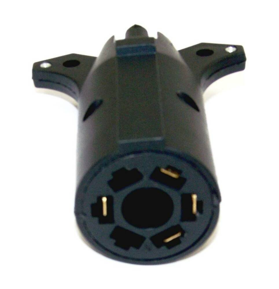 7 Way Round To 4 Pin Flat Trailer Connector Plug Light