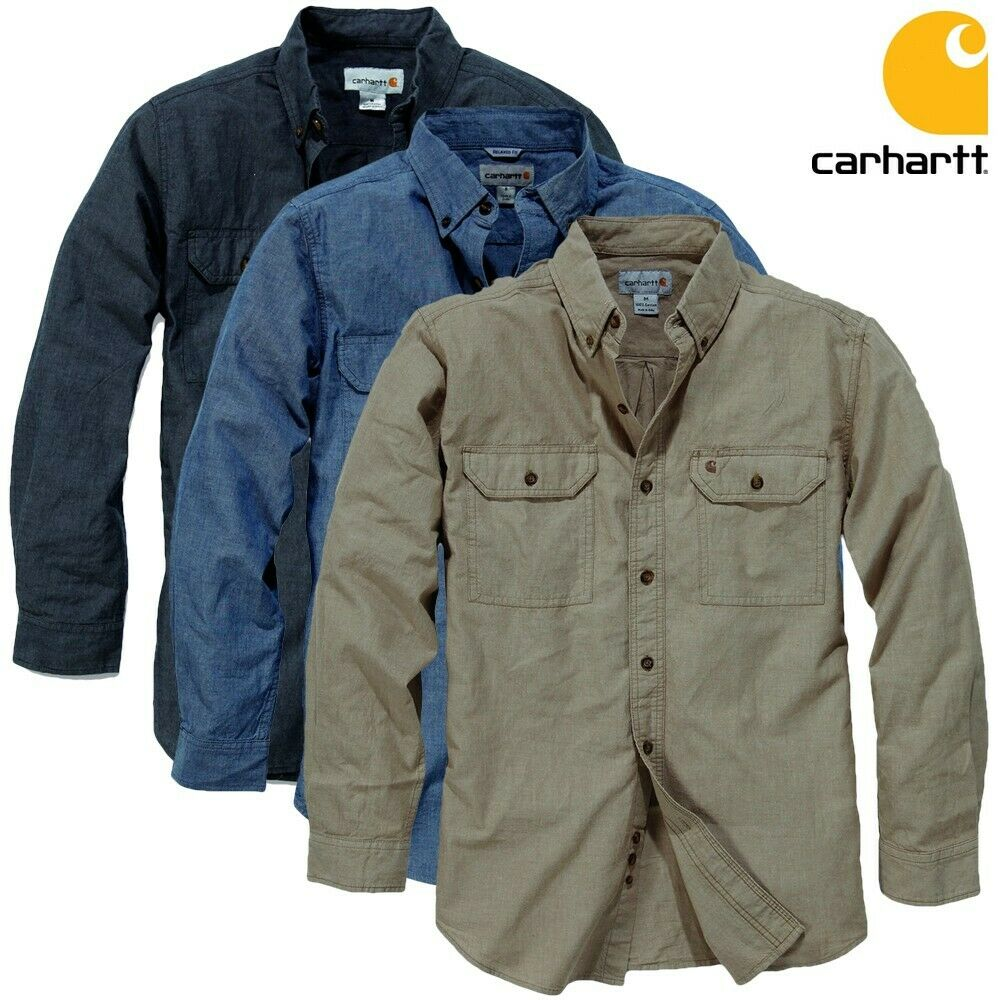 carhartt herren hemd men shirt work freizeit arbeit neu s m l xl xxl ebay. Black Bedroom Furniture Sets. Home Design Ideas