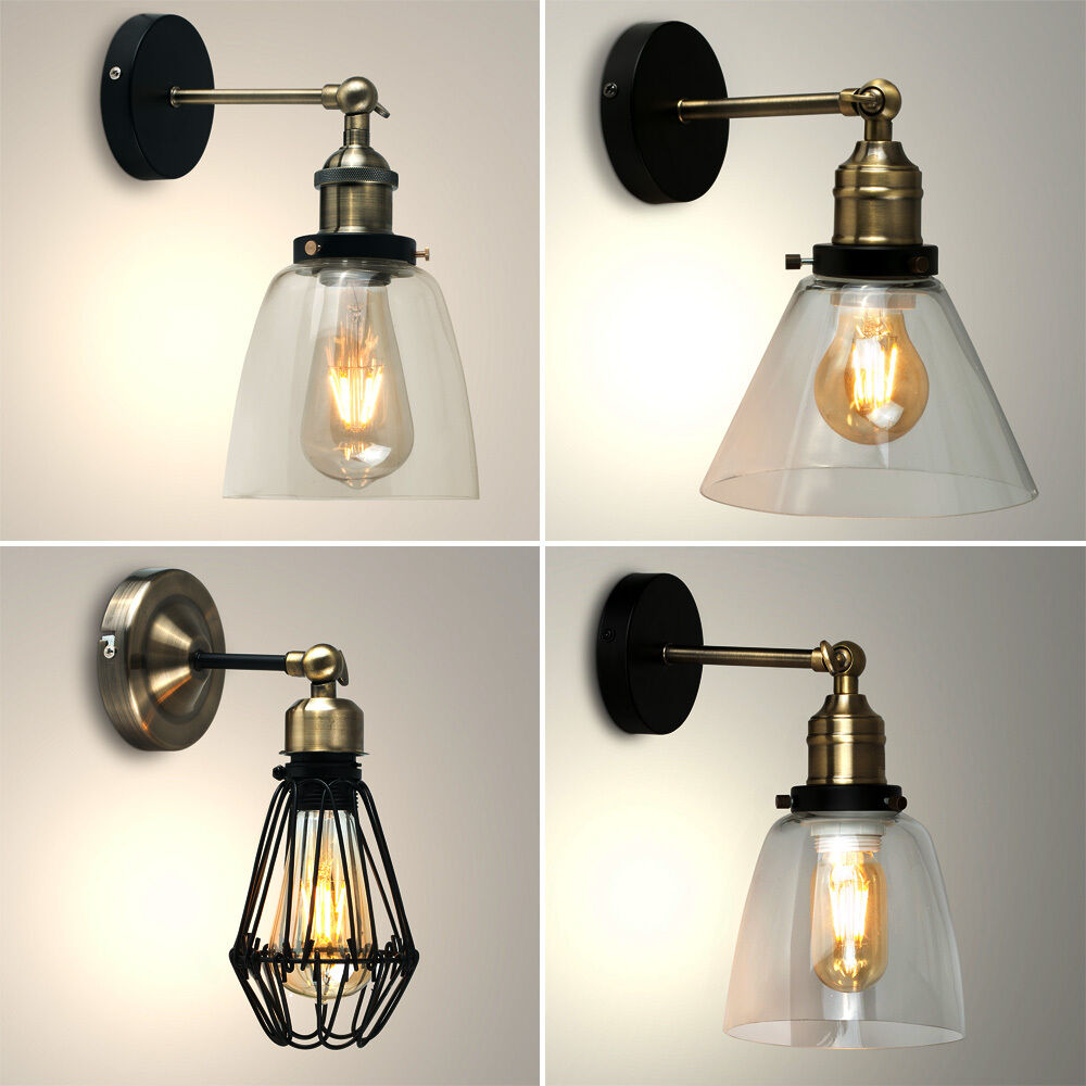Indoor Wall Lights: Vintage LED Steampunk Retro Industrial Sconce Indoor Wall