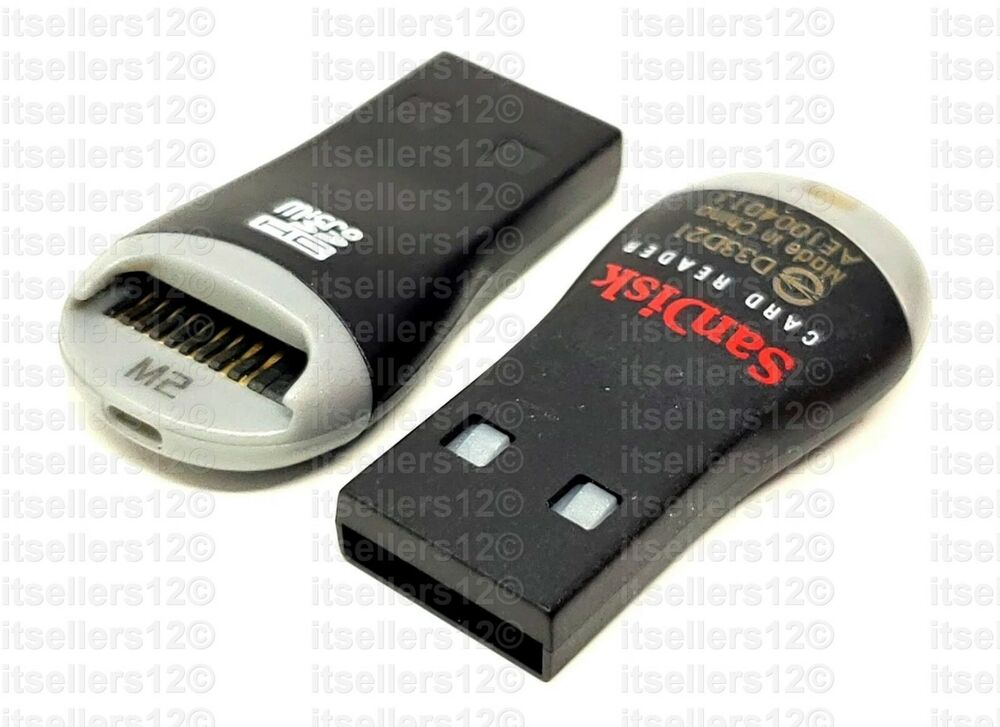 sandisk new micro sd to usb memory card adapter reader