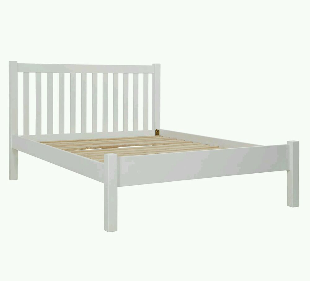 John lewis wilton bed frame double white rrp 175 no for Henry divan bed