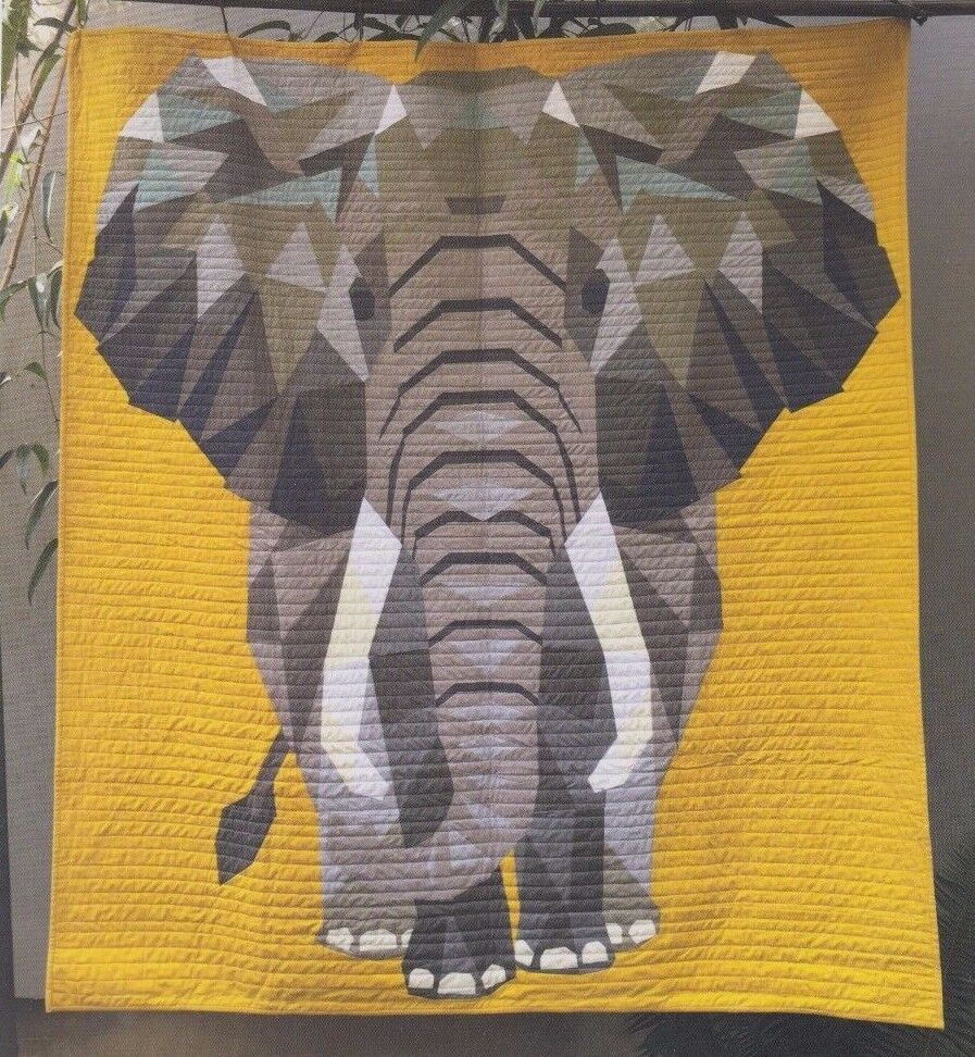 Elephant Abstractions Foundation Paper Pieced Quilt