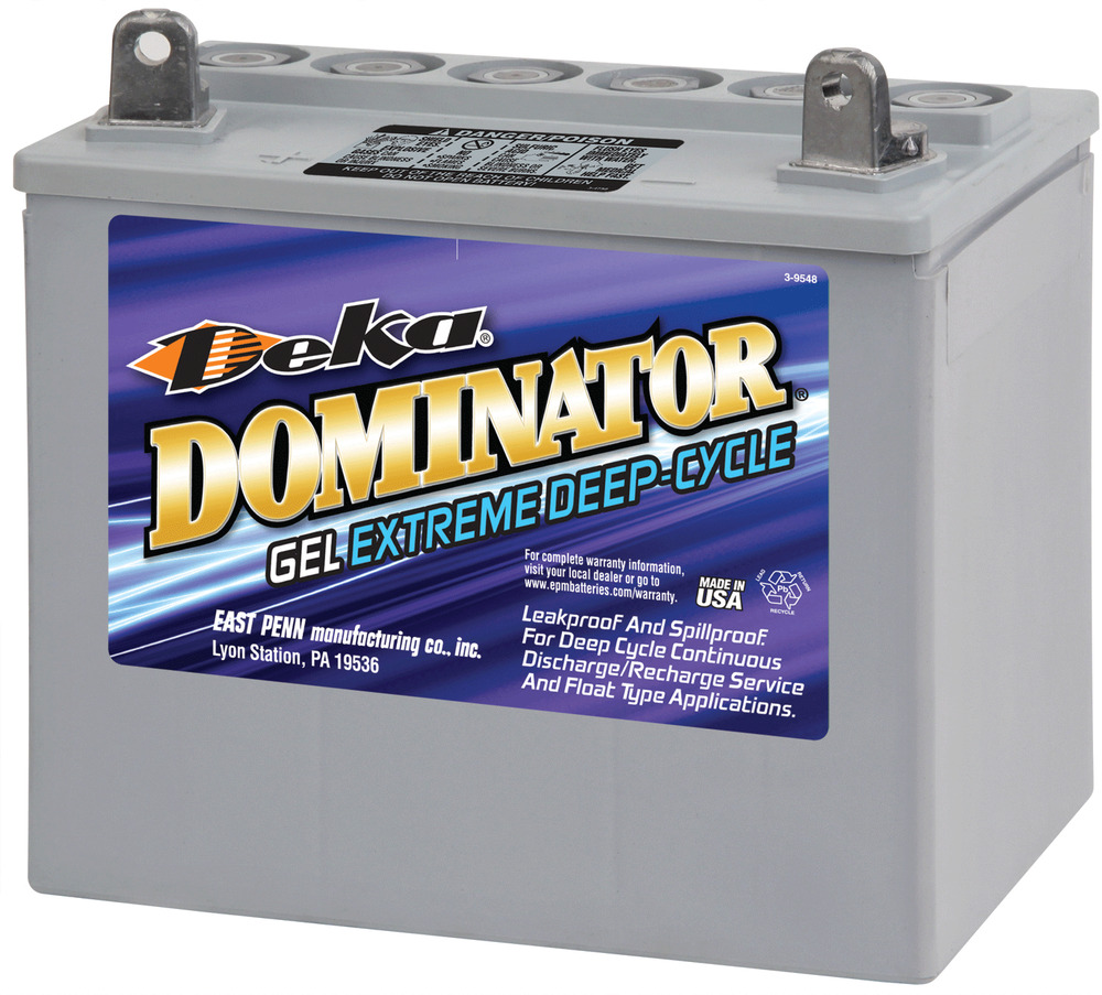 deka genuine new 8gu1 gel marine dominator 290amp cranking power battery ebay. Black Bedroom Furniture Sets. Home Design Ideas