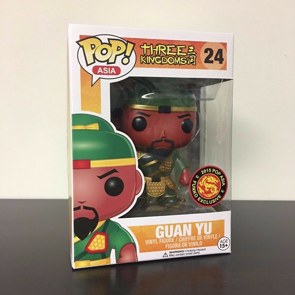 Funko Pop Three Kingdoms Guan Yu Vinyl Figure Glow In The