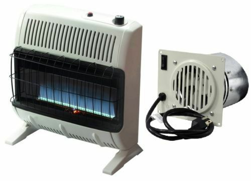Gas Space Heaters With Blowers : Mr heater vent free btu blue flame natural gas