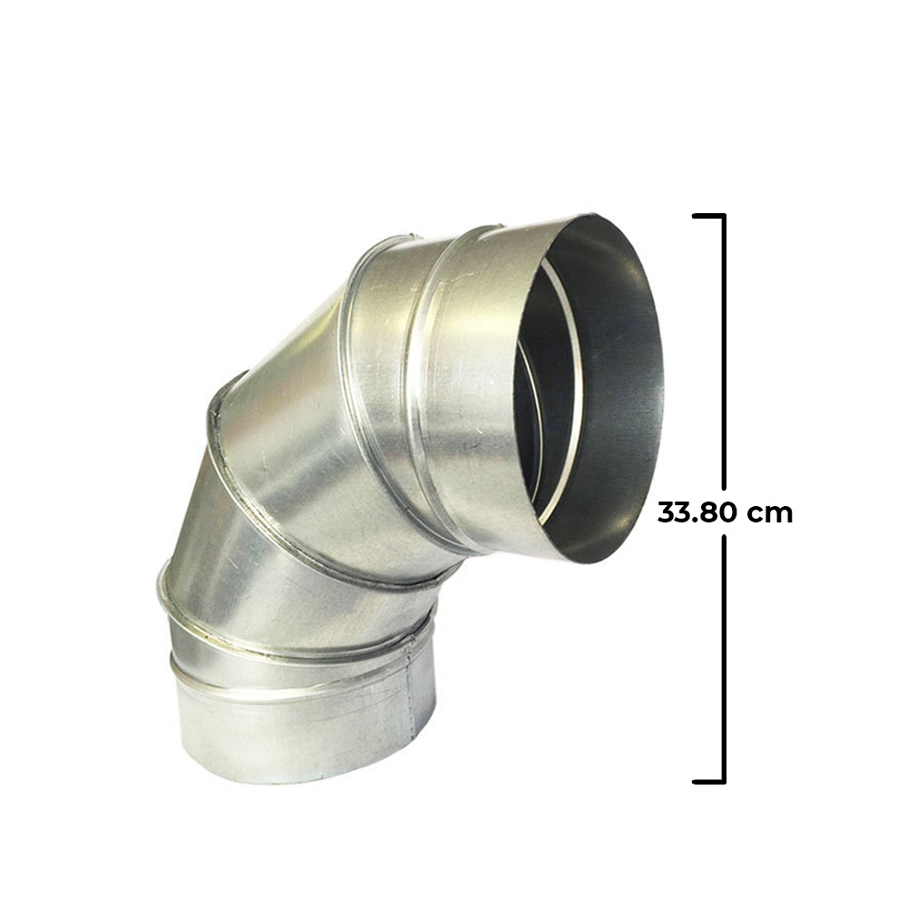 8 Air Duct : Galvanized steel round duct elbow degrees mm