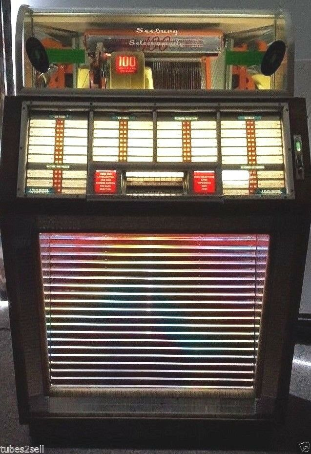 Seeburg 1950 Model M100b Jukebox First To Play 45 Rpm