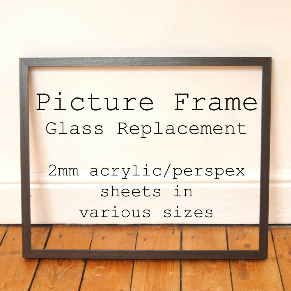 2mm clear acrylic perspex picture photo frame glass