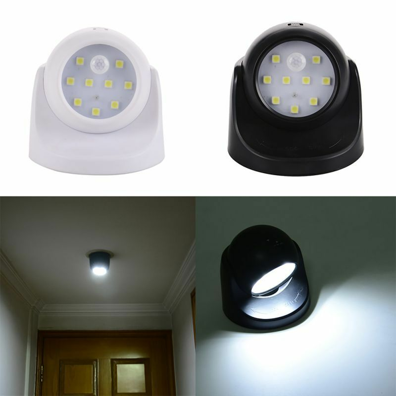 9LED Wireless Light-operated Motion Sensor Battery Power ...