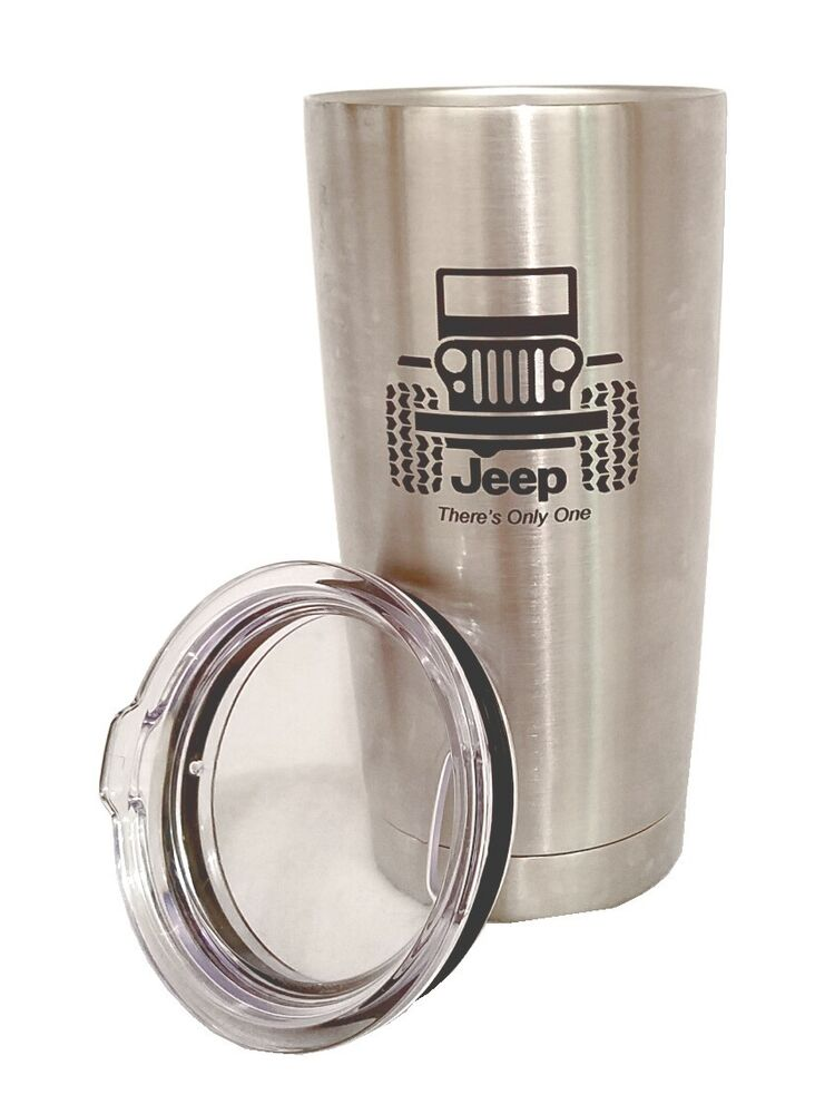 jeep wrangler stainless steel tumbler engraved thermos travel mug yeti ebay. Black Bedroom Furniture Sets. Home Design Ideas