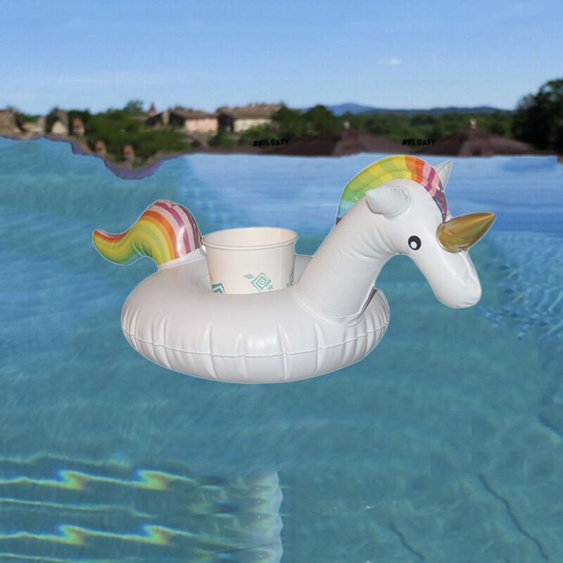 Unicorn Pool Party Inflatable Cup Holder Drink Float Rafts