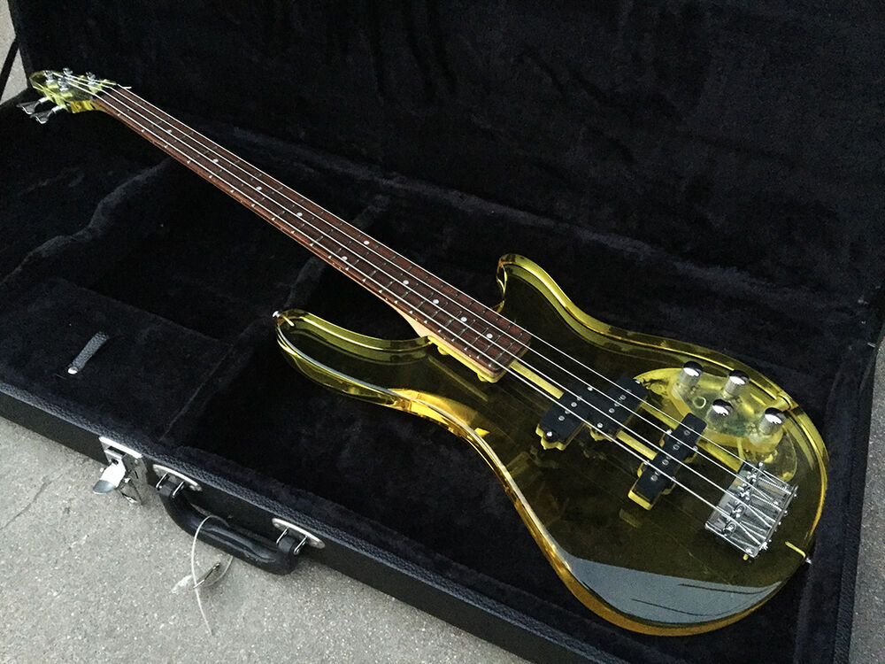 bad cat custom acrylic lucite clear body electric guitar bass see thru glass ebay. Black Bedroom Furniture Sets. Home Design Ideas