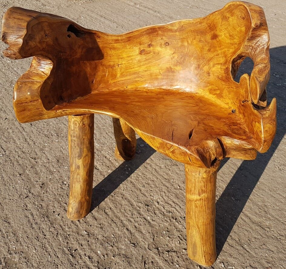 Teak Root Chair Bench Solid Reclaimed Hand Finished Chair