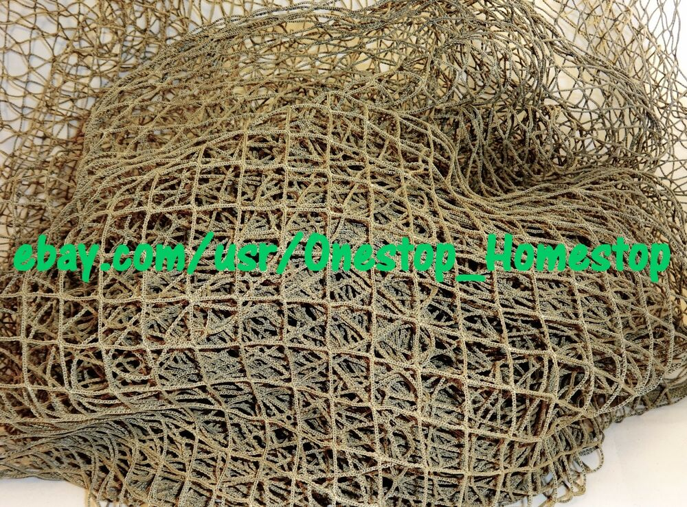 Authentic recycled fishing net fish netting decor for Fish netting decor