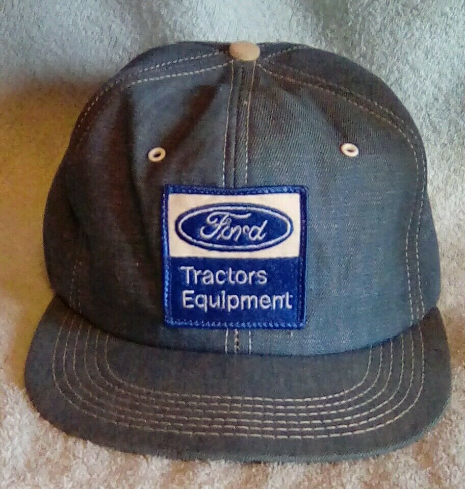 Tractor Shirts And Hats : Vtg ford tractors equipment farm ag patch snapback hat