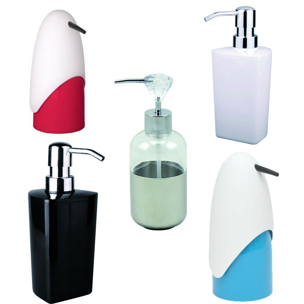 Lotion Soap Dispenser Penguin Diamond Black White Bathroom