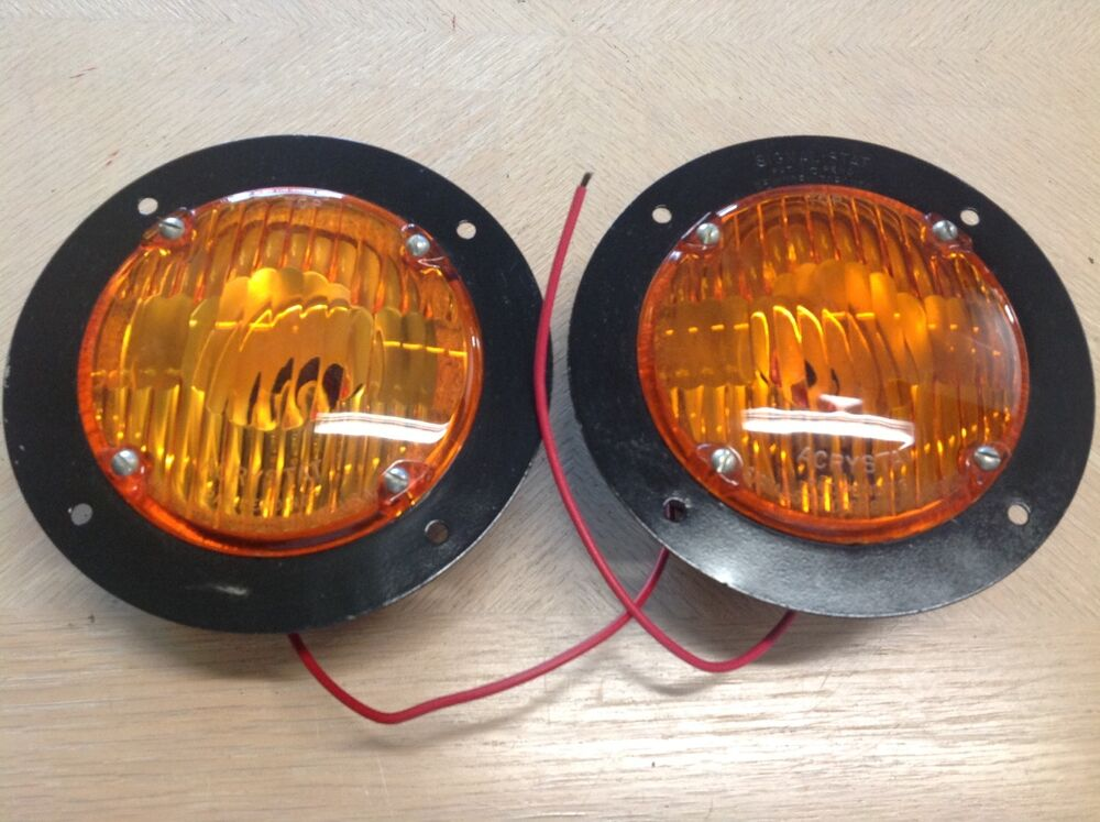 Old Pickup Lights : Lqqk vintage pair signal stat truck lights lamp amber