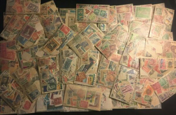 Worldwide Off Paper Stamps collection/-Unsearched lot-Mint-used/glassines++Bonus