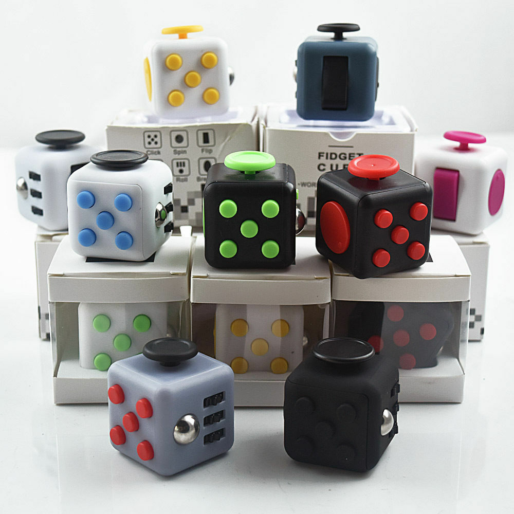Stress Relief Toys For Adults : Uk fidget cube vinyl desk toy children adults