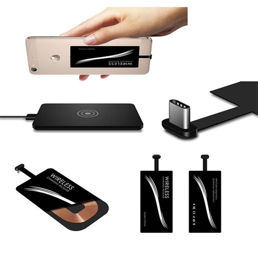 qi wireless type c usb c charger charging receiver for oneplus 2 3 nexus 6p 5x ebay. Black Bedroom Furniture Sets. Home Design Ideas