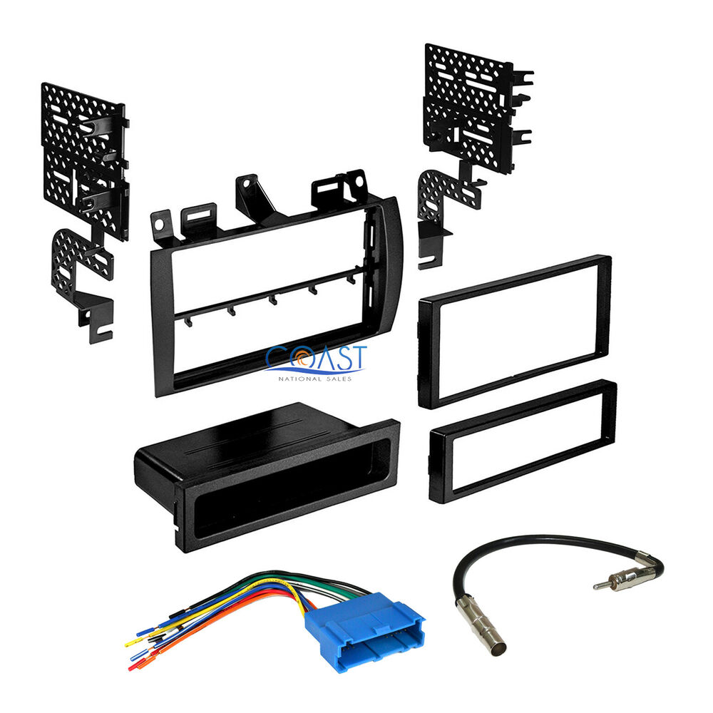 Din Wire Harness Layout Wiring Diagrams Tables Car Radio Stereo Single Double Dash Kit Kenwood Boss