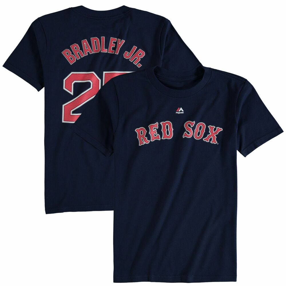 84b6c2fa6 Details about Jackie Bradley Jr. # 25 Boston Red Sox Navy Player T-Shirt by  Majestic